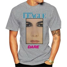 Camiseta retro vintage legal t414 moda 2021 uma liga humana dare 80s synth-pop banda presente