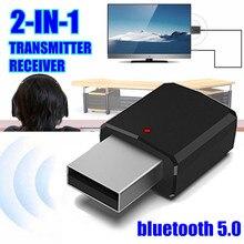 2в1 bluetooth 5,0 аудио приемник передатчик беспроводной адаптер Мини 3,5 мм AUX Стерео Bluetooth передатчик для ТВ ПК автомобильный динамик