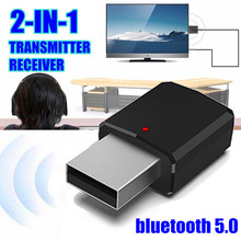 2in1 bluetooth 5.0 Audio Receiver Transmitter Wireless Adapter Mini 3.5mm AUX Stereo Bluetooth For TV PC Car Speaker