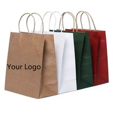 Custom Logo Gift Paper Packing Bag Craft Packaging Personalization Brand Business Shopping Bag Ladies Clothes package Bags 2021