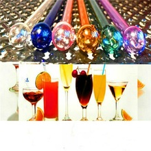 Glass Straw Drinking Tube Heater Drink Heat Resistant Party Patterned Decoration Drinkware