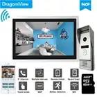 Dragonsview Wifi видео дверной звонок с монитором IP видео домофон система широкоугольный сенсорный экран запись обнаружения движения - 1