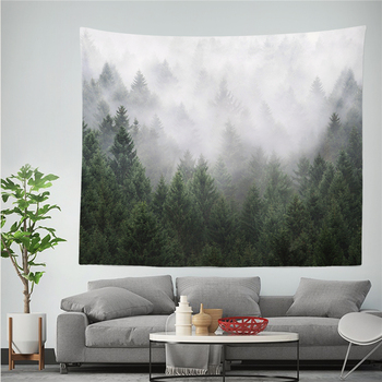 Forest Frosty Style Tapestry Mountain Pattern Printed 100% Polyestry Wall Cloth Tapestry Bedroom Background Decor Shawl Blanket boho style pattern tapestry
