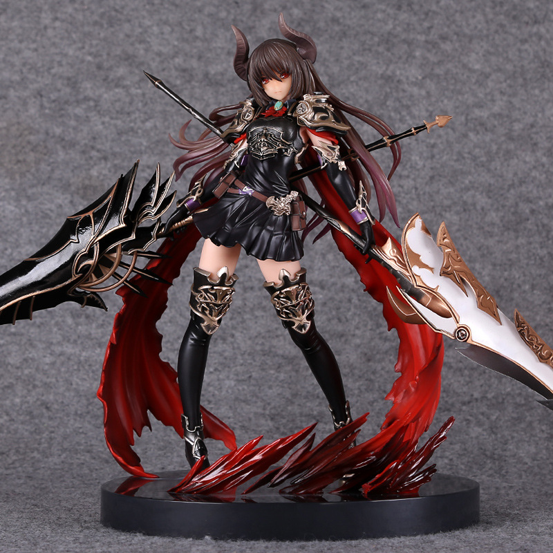 Rage Of Bahamut GENESIS 28cm Action Figure Devil Dark Dragon Knight Anime Game Figurine PVC Model Collection Toys For Christmas