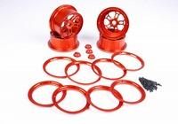 CNC Alloy wheel hub and ring rim and wheel nut set for 1/5 scale Losi 5ive T Rovan LT KM X2 rc car parts