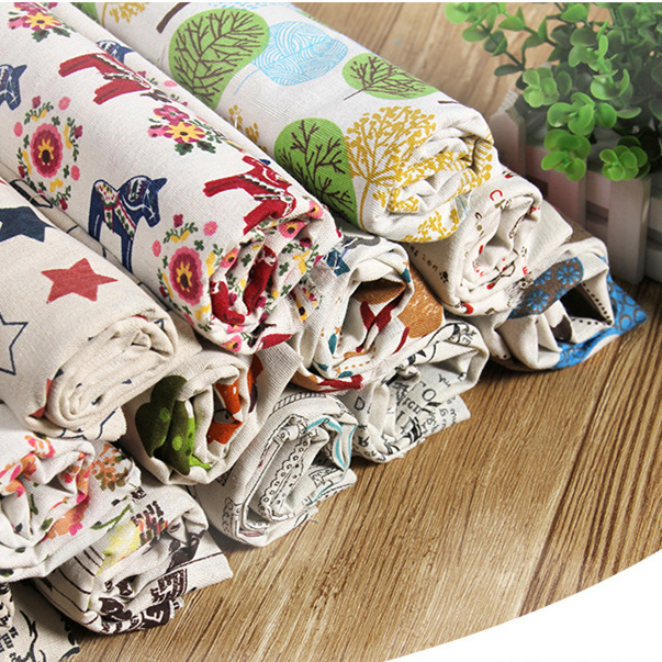 Floral fabric Width 150cm Clothing fabric decoration DIY Handmade <font><b>Cotton</b></font> <font><b>linen</b></font> fabric for curtain tablecloth background image