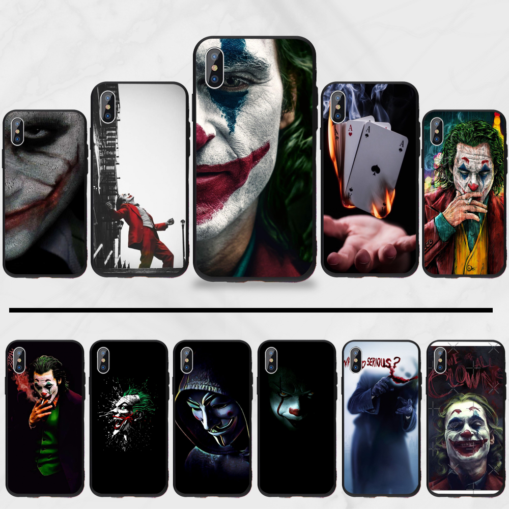 Joker Clown Slechte Man Marvel Diy Geschilderd Bling Phone Case Voor Iphone 5 5s 5c Se 6 6s 7 8 Plus X Xs Xr 11 Pro max