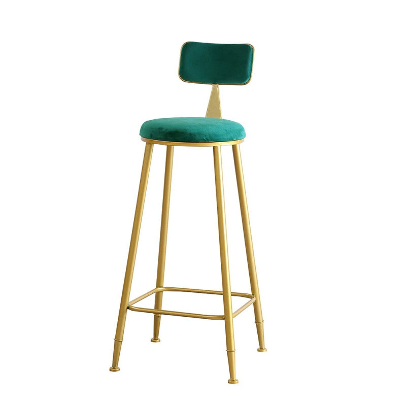 Modern Simple Iron Bar Back Chair Creative Leisure Bar Table Chair Combination Northern Europe Light Luxury High Foot Stool