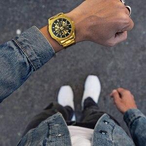 Image 5 - WINNER reloj Automático Vintage oficial para hombre, mecánico de esqueleto, reloj de vestir clásico de lujo, masculino