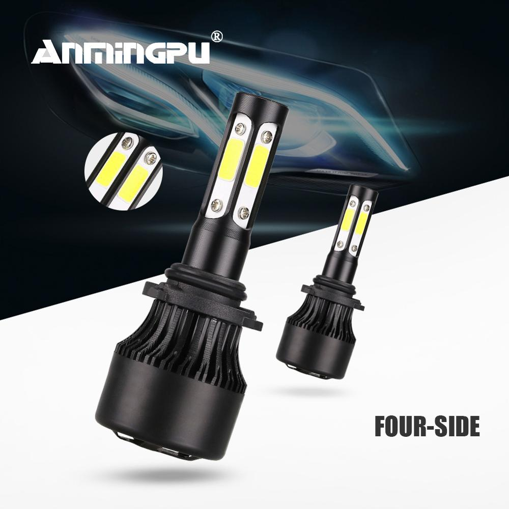 Anmingpu 2x <font><b>360</b></font> Degree 9006 HB4 <font><b>Led</b></font> <font><b>Headlight</b></font> Bulb 90W 10000LM H4 H7 <font><b>Led</b></font> Bulb H11 H8 H9 9003 HB3 <font><b>Led</b></font> Light Bulbs for Auto 6500K image
