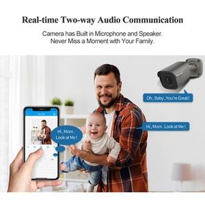 Image 5 - Techage sistema de vigilancia de NVR POE al aire libre, Kit de 4 canales, 5MP, cámara IP IA, cuerpo de Audio bidireccional, detección humana, Vídeo impermeable