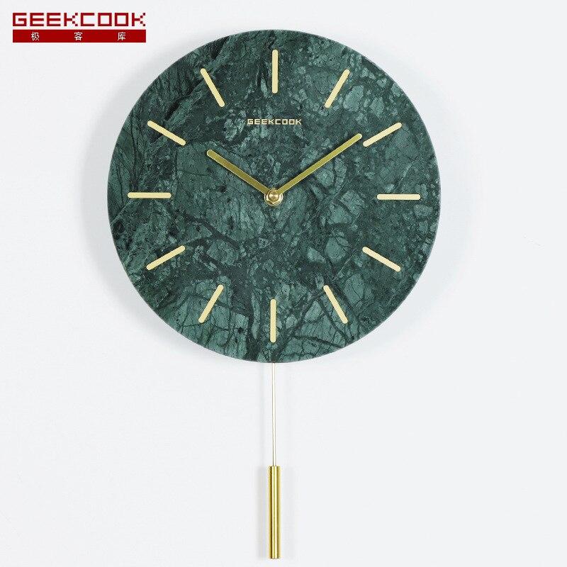 Horloge murale en marbre de Style nord européen rêveur Dali moderne minimaliste accessoires pour la maison horloge muette une génération de graisse en gros