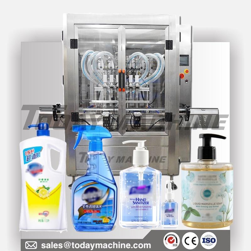 Automatic Bottle Liquid Filling Machine For 500 Ml Hand Sanitizer Alcohol Disinfection, Gel, Lotion, Liquid Paste Cream Paste