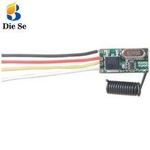 Interruptor de Control remoto inalámbrico para Controlador de luz, 433MHz, 5V, 2A, módulo receptor LED y transmisor, mando a distancia RF