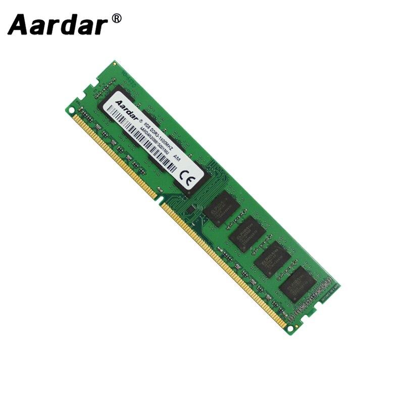 Aardar Desktop di Memoria 8GB 8G 4GB 4G 2GB 2G 1600MHz 1333MHz Ampia versione DDR3 Per intel e AMD Computer Compatibile ddr 3 RAM