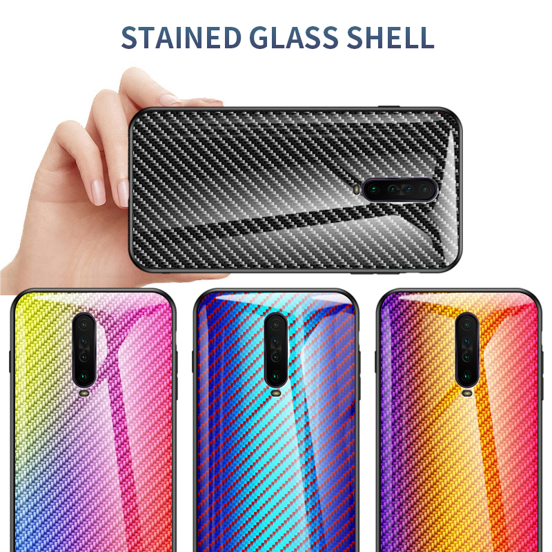 Gradient Tempered Glass Case for <font><b>Xiaomi</b></font> <font><b>Redmi</b></font> <font><b>Note</b></font> 8 <font><b>7</b></font> 6 5 k20 <font><b>Pro</b></font> s2 8 6A 8A 7A k30 4X 4 <font><b>Global</b></font> <font><b>Version</b></font> 8T Colorful Glass Cases image