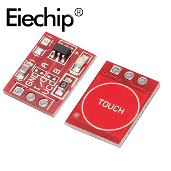 10 sztuk/partia TTP223 dotykowy przycisk przełącznik pojemnościowy moduł czujnika samoblokujący/bez blokowania jednokanałowy TTP223-BA6 dla arduino