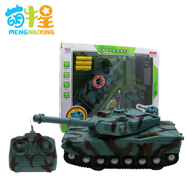 Four-Way Remote Control Light And Sound Tank Wireless Electric Remote Control Tank Cartoon Model Military Model