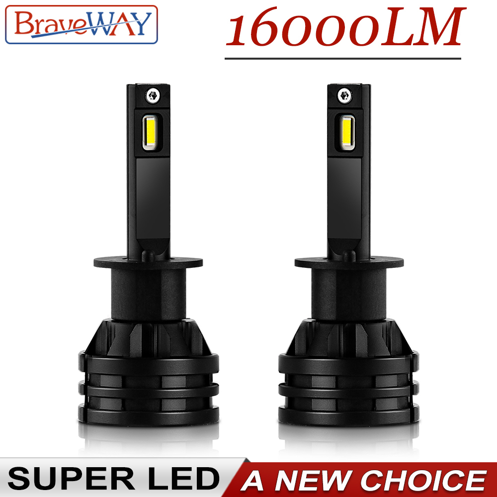 BraveWay 2019 Hot Sale Mini Size 80W 16000LM Car Headlight Bulbs Auto H7 LED Bulbs H4 H8 HB3 HB4 Fog Lights LED H11 H1 Ice Lamp