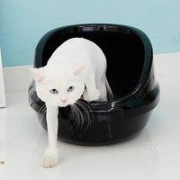 Semi closed Cat Litter Box Toilet Pet Wc Cat Toilet Clean Basin Toilet Training Kit Inodoro Arenero Gato Pets Products EE50MC