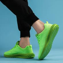 Sneakers Couple Fly Knit Breathable Running Shoes Outdoor Casual Women Simple Sport
