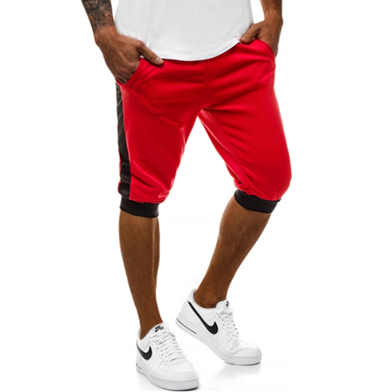 2019 Hot Style Leisure Sports Fitness Patchwork Slim Men's String Five Minutes Jogging Shorts