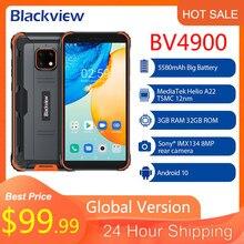Blackview-teléfono inteligente BV4900, Original, resistente al agua, Android 10, 3GB + 32GB, IP68, 5580mAh, 5,7 pulgadas, NFC