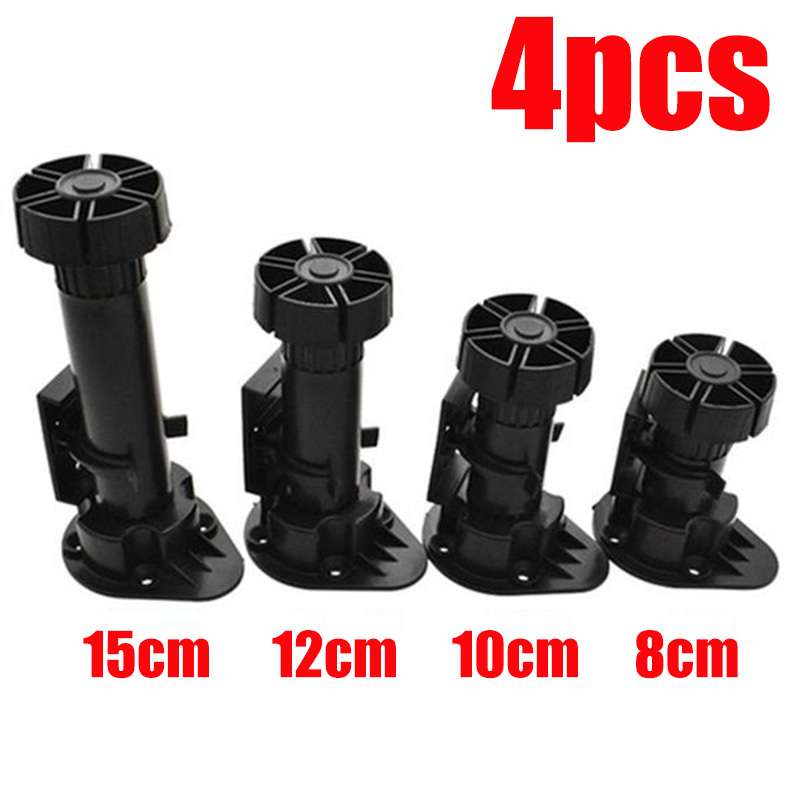 4 Pcs Adjustable Height Cupboard Foot Cabinet Leg For Kitchen Bathroom Accessories Furniture Legs Plinth Cabinets 8/10/12/15cm