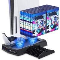 Nueva estación de ventilador de enfriamiento de pie para Playstation 5/PS5 Auarte, Estación De Carga de controlador con soporte Vertical enfriador