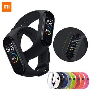 Image 1 - Xiao mi mi band 4, smart Armband Kleur Scherm Bluetooth 5.0 Smart Armband Hartslag Fitness 135 mAh Smart Horloge Smart Polsband