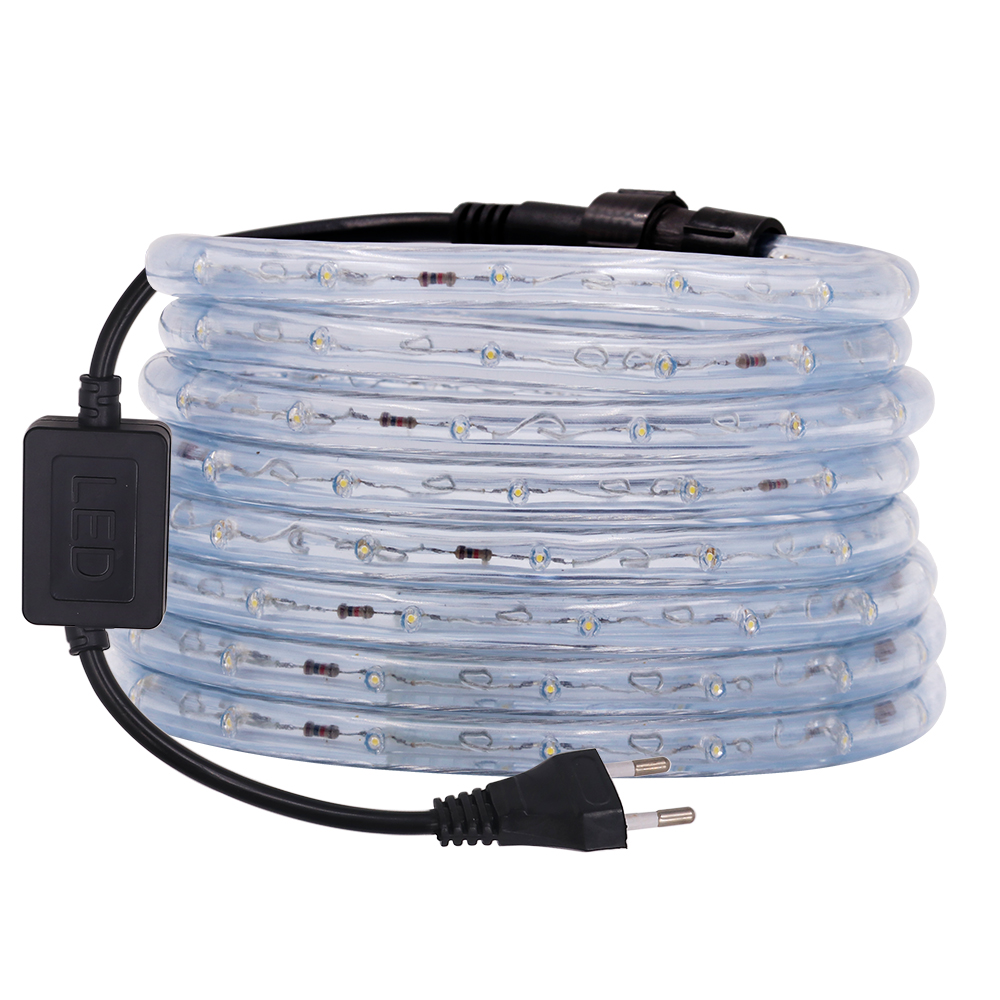 Waterproof LED Neon Light Strip Flexible Rainbow Tube Rope 220V 110V AC Round Tow Wire LED Lights Outdoor Decorative RGB Strip