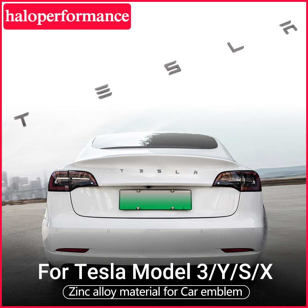 Haloperformance Model3 car tail letter label For Tesla Model 3 Accessories tail sticker Model three model Y 2020 New Tesla logo