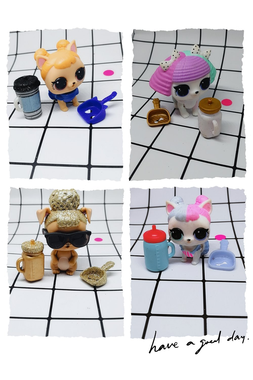 LOL Doll Surprise Original Pet Surprise Clothes Accessories Urination  Tears Bottle Shovel Clothes Toys For Children