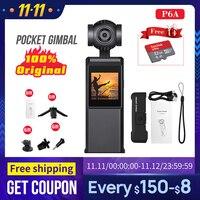 P6A Tasche Gimbal Motion Kamera 3-achse Stabilisiert Handheld Kamera Smartphone 4K 60fps Video VS DJI Osmo Tasche feiyu tasche Fimi