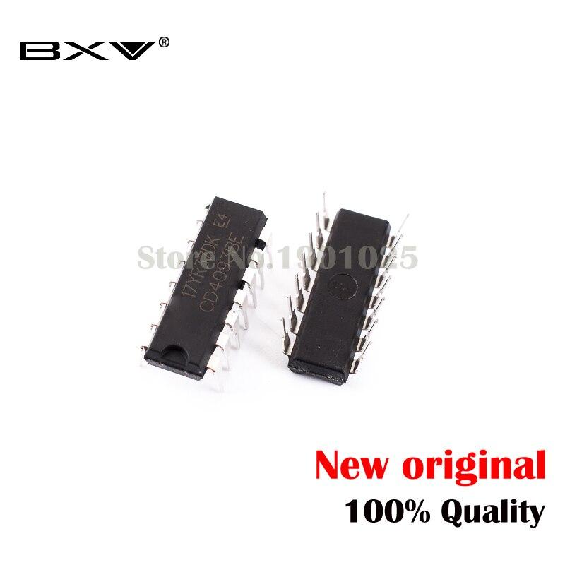 10pcs/lot CD4093BE DIP14 CD4093 DIP 4093 DIP-14 4093BE New And Original IC In Stock