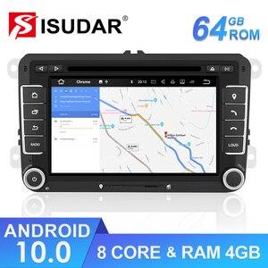 Image 1 - Isudar lecteur multimédia, avec DSP, lecteur DVD, avec GPS, pour VW/Volkswagen POLO, Golf, Skoda, Octavia, Seat Leon, Android 10, 2 Din