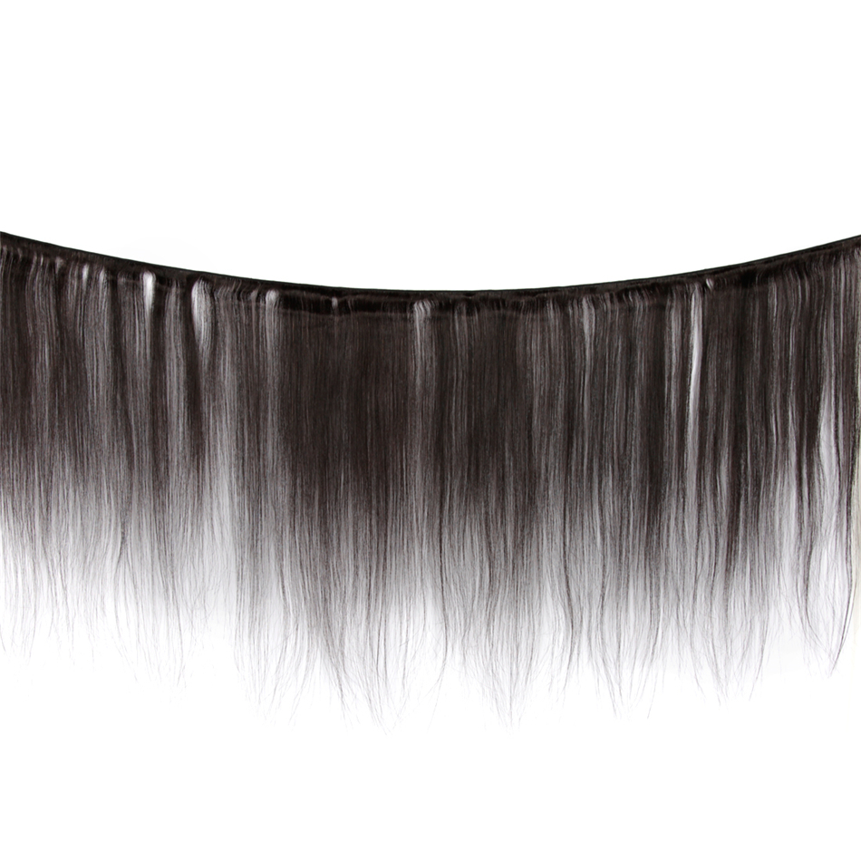 Image 2 - Indian Straight Human Hair Bundles With Closure 3 Bundles Deal With Closure 4 Pcs/Lot MIHAIR Bundles Remy Middle Part-in 3/4 Bundles with Closure from Hair Extensions & Wigs