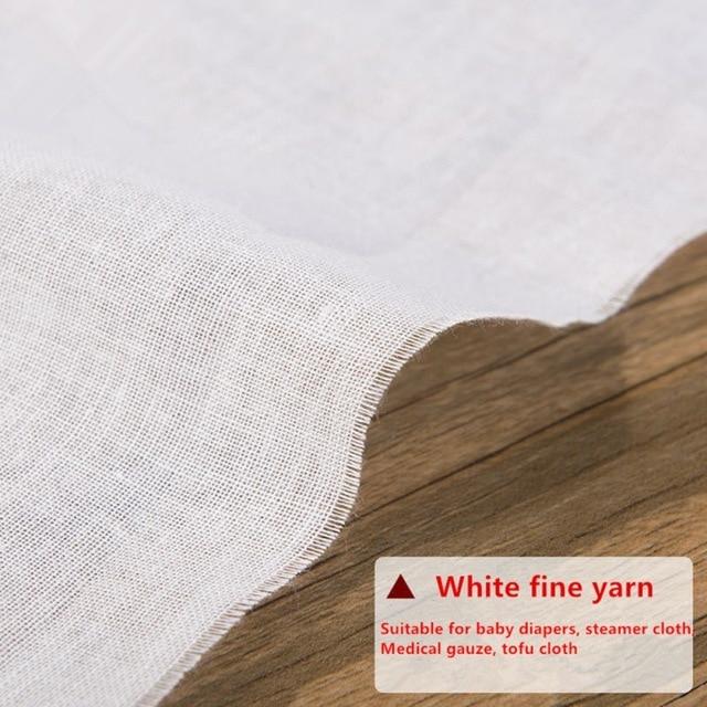 Pure Cotton Gauze Cloth Baby Saliva Towel Diaper Tofu Cloth Steamer Cloth DIY Cutting Cloth Face Shield Cloth 100x120CM 3