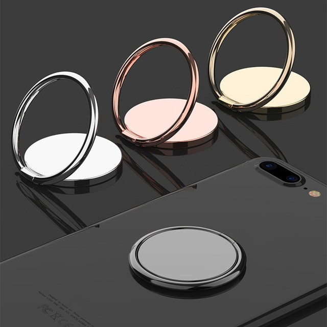 Spin Rotatable Thin Magnet Metal Finger Ring Phone Holder 360 Degree Rotatable Smartphone Socket For Magnetic Smartphone Stand(China)