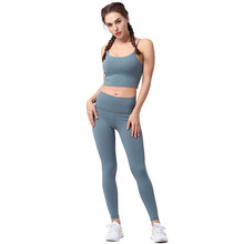 Suit Sport Women Fitness Clothing Female Nylon Solid Sportswear Yoga Set Woman Gym Clothes Running Clothing Ladies Athletic Suit(China)