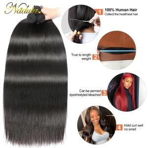 Image 4 - Nadula Hair mechones de cabello liso de 28 pulgadas y 30 pulgadas, 3 mechones/4 mechones, cabello humano liso Remy