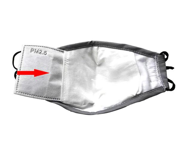 Anti Dust PM2.5 Mouth Mask With 2 Replaceable Filters Breathable Cotton Face Mask Washable Respirator Mouth-muffle 2
