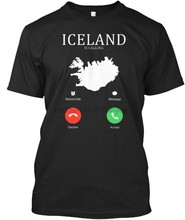 Fashion Summer Style Iceland Is Calling 003 - Standard Unisex T-Shirt Tee shirt(China)