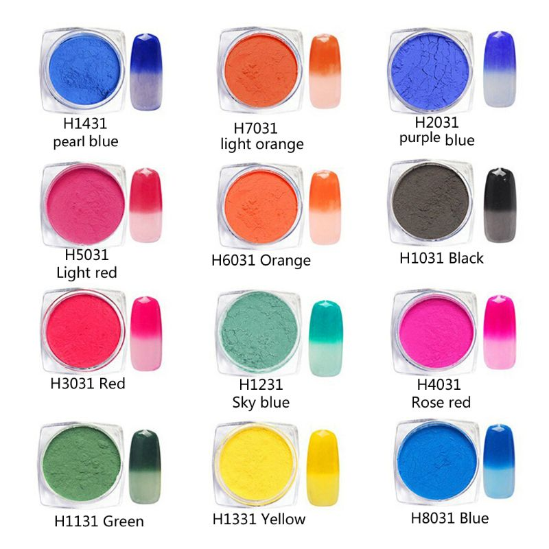 Thermochromic Pigment Activated At 31 ⁰C Nail Powder Color Change Resin Jewelry
