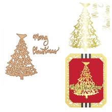 Hot Foil Plate Merry Christmas&Christmas Tree for DIY Scrapbooking Embossing Crafts Cards Decoration New 2019