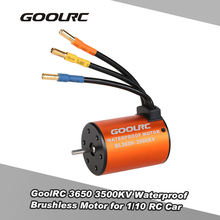 GoolRC High Quality 3650 3500KV Waterproof Brushless Motor for 1/10 RC Car HSP 94123 HuanQi 727 FS Racing 53625/53632 RC Parts(China)