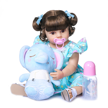 55CM NPK reborn baby toddler girl very soft full body silicone doll bath toy lifelike real soft touch bath toy Christmas Gift 2