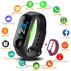 Smart-Watch Wristband Fitness-Tracker Blood-Pressure Health Bluetooth Waterproof M3-Plus