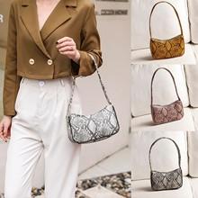 Nowe mody Leopard wzór wężowy torba na ramię dla kobiety torebka osobowość #8222 dzika moda #8221 skórzana torebka Messenger torby # y30 tanie tanio CN (pochodzenie) Wszechstronny zipper Podróż torba 1012 SOFT WOMEN