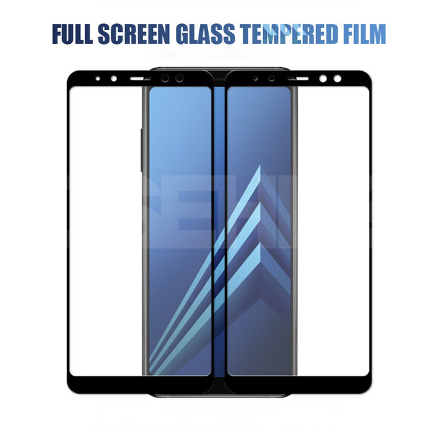 9D Protective Glass On the For Samsung Galaxy A5 A7 A9 J2 J8 2018 A6 A8 J4 J6 Plus 2018 Tempered Glass Screen Protector Film 2